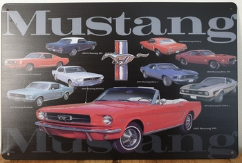 Ford Mustang Collage reclamebord metaal