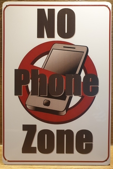 No Phone Zone Reclamebord metaal