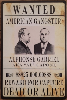 American Gangster All Capone reclamebord poster metaal