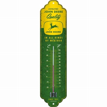 John Deere all kinds of weather metalen thermometer