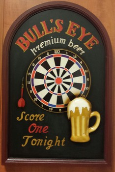 Darts Bulls eye pubbord