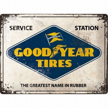 Goodyear tires sevice station relief wandbord metaal