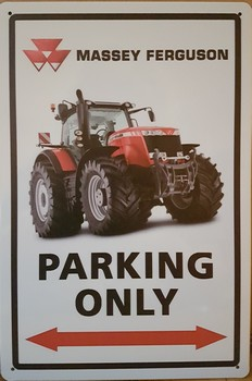 Massey ferguson parking only metaal