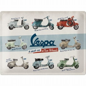 Vespa a small car on two wheels collage relief recla