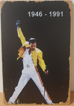 Freddy Mercury 1946 - 1991 metalen reclamebord
