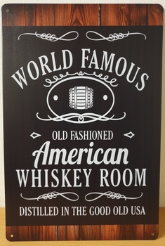 World FAmous American Whiskey metaal
